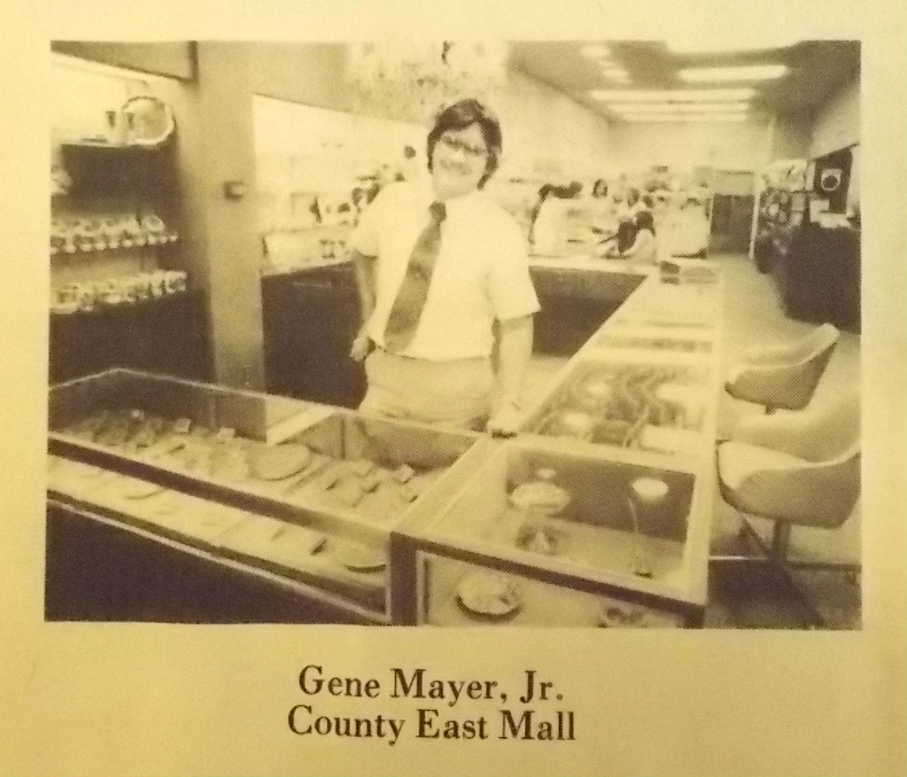 Gene Mayer Jr County East Jewelry Store Owner Fall 1979